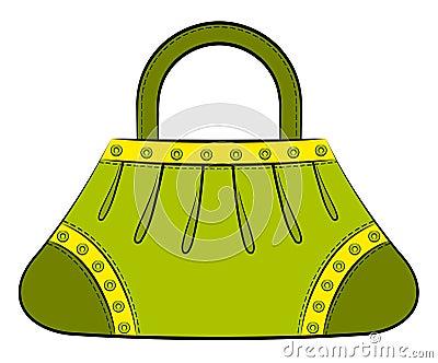 Cartoon woman s bag.