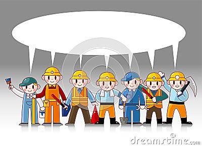 Cartoon worker card