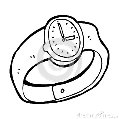 Cartoon wrist watch royalty free stock images image 37027099 for Cartoon watches