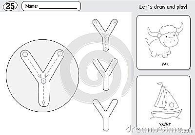 Alphabet Writing Practice Worksheet Stock Illustration - Image ...