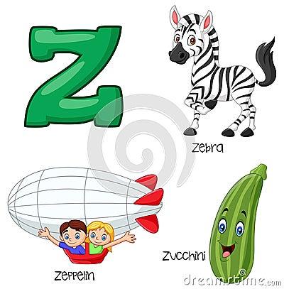 Free Cartoon Z Alphabet Stock Images - 123696944