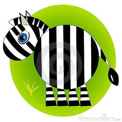 Cartoon zebra zoo. wild mammal