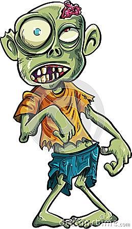 Cartoon zombie with a big eyes