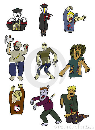 Cartoon zombies icon