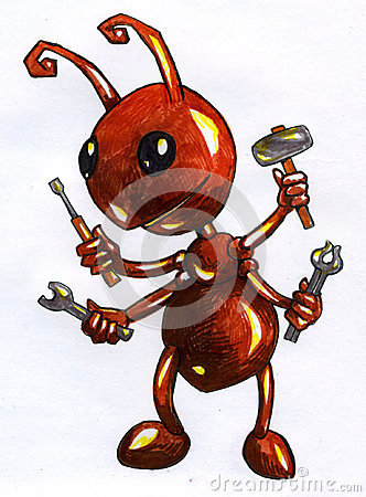 Free Cartoonish Ant Worker Sketch Royalty Free Stock Image - 49323936