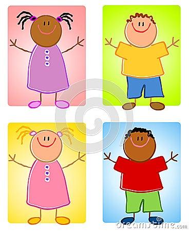 Cartoonish Children Characters