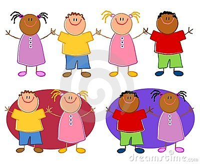 children holding hands template. CARTOONISH CHILDREN HOLDING