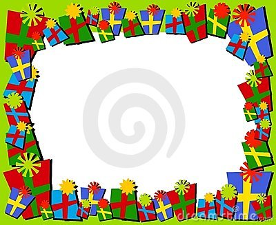 Cartoonish Christmas Gifts Border or Frame