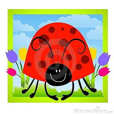 Cartoonish Ladybug Clip Art