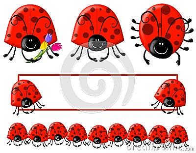 Cartoonish Ladybug Clip Art And Logo