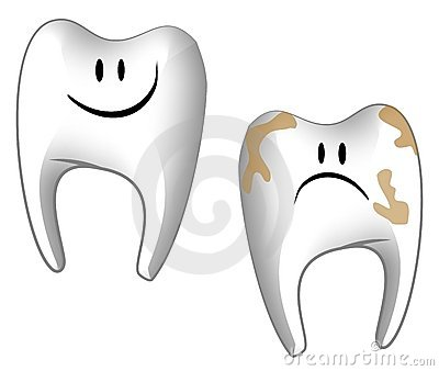 Cartoonish Teeth Dental Care Stock Photos - Image: 4039923