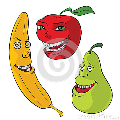 Cartoons fruit