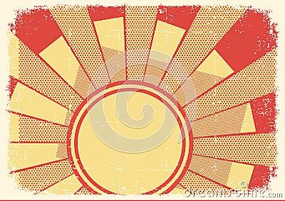 Cartoons grunge background with sunlight