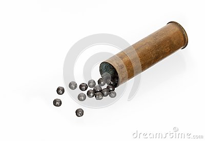 Cartridge with buckshot