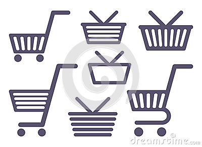 Carts and baskets for shopping