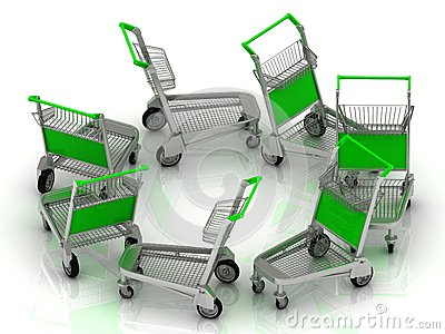 Carts on wheels for the airport
