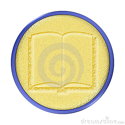 Carved Gold Guestbook Button