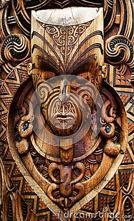 Carved Maori Board