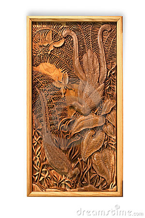 Carved picture of handwork