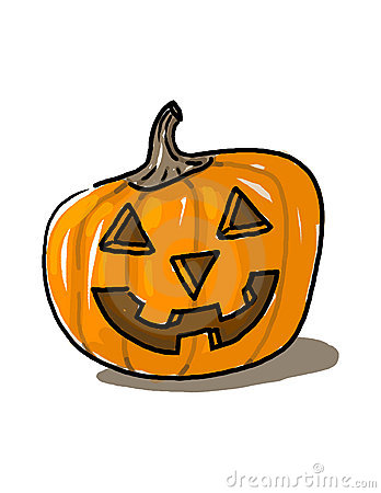 Carved pumpkin illustration
