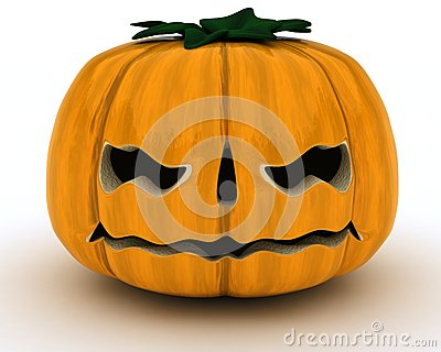 Carved pumpkin Jack o Lantern