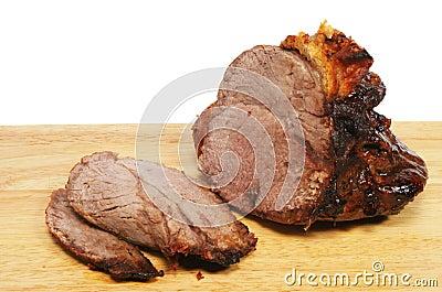 Carved roast beef