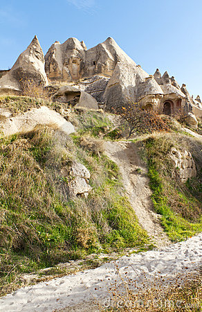 Carved Rock Home or Church in Cappadocia, Turkey