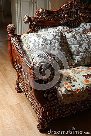 Carved sofa