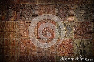 Carved tiles
