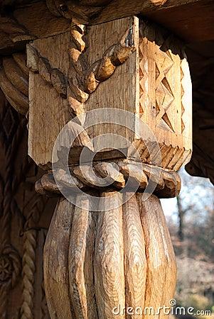 Carved wood detail