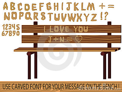 Carved on wood font
