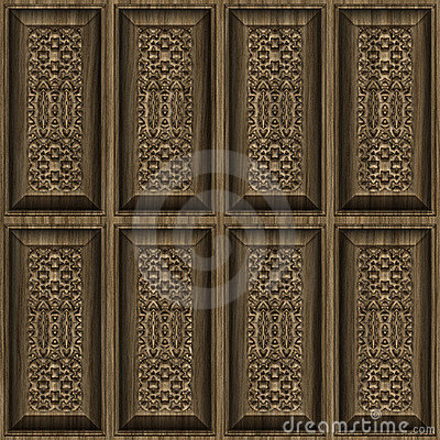 Carved Wood Panels Stock Photo - Image: 5302000