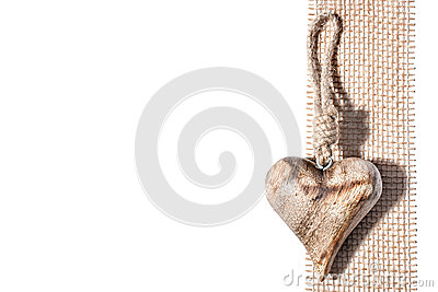 Carved wooden heart