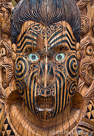 Free Carved Wooden Maori Board Stock Images - 12056074