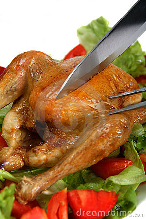 Free Carving A Roast Chicken Royalty Free Stock Photo - 7934905