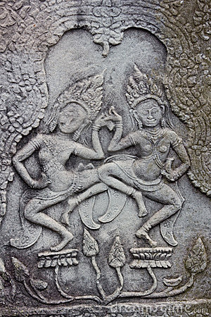 Carving at Angkor Thom