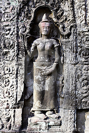 Carving in Angkor Wat