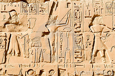 Carving in Karnak temple