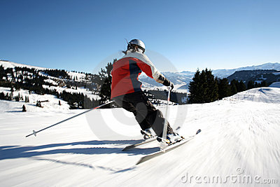 Carving on the slope