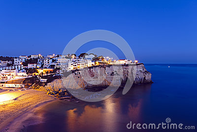 Carvoeiro in the Algarve Portugal
