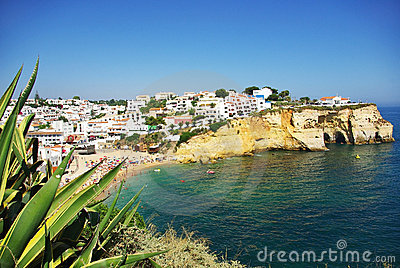 Carvoeiro beach village.