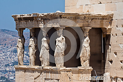 Caryatids Erechteion Acropolis Athens Greece