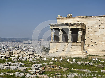Caryatids, erechtheion temple Acropolis, Athens