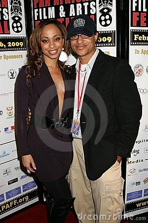 Caryn Ward and Clinton H. Wallace at the Pan African Film Festival Premiere of  Layla . Culver Plaza Theatre, Culver City, CA. 02- Editorial Photography