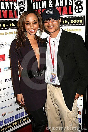 Caryn Ward and Clinton H. Wallace at the Pan African Film Festival Premiere of  Layla . Culver Plaza Theatre, Culver City, CA. 02- Editorial Stock Image