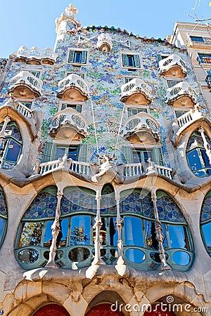 Casa Batlló Facade. Editorial Photo