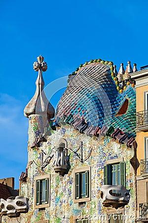 Casa Batllo.architect Antoni Gaudi.