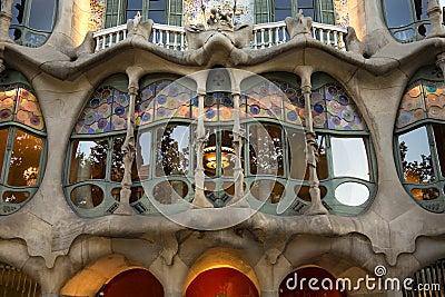 Casa Batllo - Barcelona - Spain Editorial Stock Photo