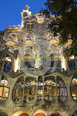 Casa Batllo - Barcelona - Spain Editorial Stock Photo