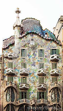 Casa Batllo  by Catalan architect Antoni Gaudi. Barcelona